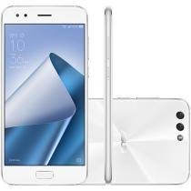 Smartphone Asus Zenfone 4 64GB Branco Dual Chip - 4G Câm. 12MP e 8MP + Selfie 8MP Tela 5,5 Full HD
