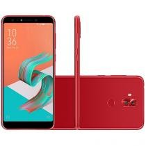 "Smartphone Asus Zenfone 5 Selfie 64GB Vermelho 4G - 4GB RAM Tela 6"" Câm. 16MP+16MP + Selfie 20MP+20MP"