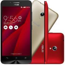 """Smartphone ASUS ZenFone Go Desbloqueado Tela 5"""" 16GB 3G Câmera Frontal Dual Chip Android 5.0 - Vermelho - Asus"""