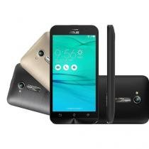 """Smartphone Asus Zenfone Go Dual Chip Android 5.1 Tela 5"""" 8GB 3G Câmera 8MP + 2 Capas - Preto -  ZB50 -"""