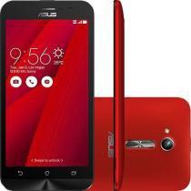 """Smartphone Asus Zenfone Go Dual Chip Android 5.1 Tela 5"""" 8GB 3G Câmera 8MP - Vermelho - Asus"""