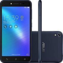 "Smartphone Asus Zenfone Live 16Gb Preto Dual Chip Android 6.0 Tela 5"" Snapdragon 4G Wi-Fi Câmera 13M -"