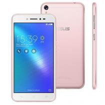 "Smartphone Asus Zenfone Live 16Gb Rosa Dual Chip Android 6.0 Tela 5"" Snapdragon 4G Wi-Fi Câmera 13MP -"