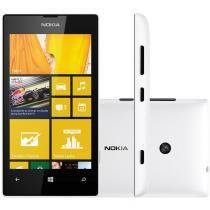 "Smartphone Desbloqueado Lumia 520 Tela 4"" 3G Windows Phone 8 Branco NOKIA - Branco - Nokia"