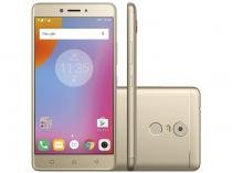 Smartphone Lenovo Vibe K6 Plus 32GB Dourado - Dual Chip 4G Câm. 16MP + Selfie 8MP Tela 5,5""