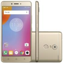 Smartphone Lenovo Vibe K6 Plus 32GB Dourado - Dual Chip 4G Câm. 16MP + Selfie 8MP Tela 5.5""