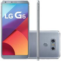 "Smartphone LG G6 64GB Platinum 4G Quad Core - 4GB RAM Tela 5,7"" Câm. 13MP + Selfie 5MP"