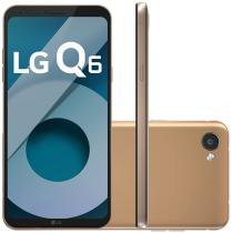 "Smartphone LG Q6 32GB Rose Gold Dual Chip 4G - Câm. 13MP + Selfie 5MP Tela 5,5"" Proc.Octa Core"