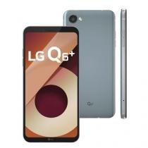Smartphone lg q6+ platinum 64gb, tela 5.5,android 7.0,4g, 13mp, processador octa-core e 4gb de ram -