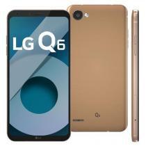 Smartphone LG Q6 Rose Gold com 32GB, Tela 5.5, Android 7.0, 4G, Câmera 13MP,Octa-Core e 3GB de RAM -