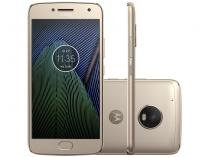 "Smartphone Moto G5 Plus 32GB Ouro Dual Chip - Câm. 12MP + Selfie 5MP Tela 5.2"" Octa Core Desbl."