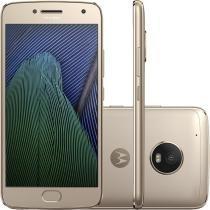"Smartphone Moto G5 Plus Ouro, Dual Chip, Android 7.0, Tela 5.2"", 32GB, 4G, Câmera 12MP - Motorola"