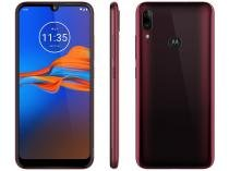 "Smartphone Motorola E6 Plus 64GB Rubi 4G 4GB RAM - Tela 6,1"" Câm. Dupla + Câm. Selfie 8MP Dual Chip"