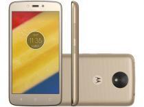 Smartphone Motorola Moto C Plus 16GB Dourado - Dual Chip 4G Cam 8MP Tela 5 HD Proc Quad Core -