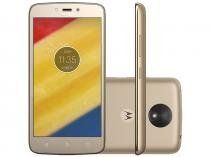 "Smartphone Motorola Moto C Plus 8GB Ouro - Dual Chip 4G Câm. 8MP Tela 5"" HD Proc. Quad Core"