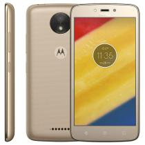 "Smartphone Motorola Moto C Plus Dual Chip 5.0"" 8 Gb Tv 4g Wi Fi Android 7.0 Nougat XT1726 Ouro -"