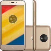 """Smartphone Motorola Moto C Plus Dual Chip Android 7.0 Nougat Tela 5"""" Quad-Core 1.3GHz 8GB 4G Câmera -"""