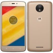 "Smartphone Motorola Moto C Plus, Dual Chip, Dourado, Tela 5"", 4G+WiFi, Android 7, 8MP, 16GB -"