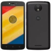 "Smartphone Motorola Moto C Plus, Dual Chip, Preto, Tela 5"", 4G+WiFi, Android 7, 8MP, 16GB -"