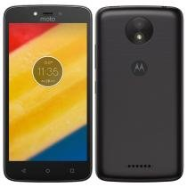 "Smartphone Motorola Moto C Plus, Dual Chip, Preto, Tela 5"", 4G+WiFi, Android 7.0 Nougat, 8MP, 8GB -"