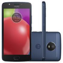 "Smartphone Motorola Moto E4 16GB Azul Safira - Dual Chip 4G Câm. 8MP + Selfie 5MP Tela 5"" HD"
