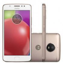 Smartphone Motorola Moto E4 16GB Branco com Capa Ouro Rosê - Motorola