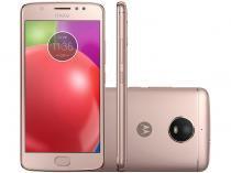 "Smartphone Motorola Moto E4 16GB Ouro Rosê - Dual Chip 4G Câm. 8MP + Selfie 5MP Tela 5"" HD"