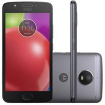 "Smartphone Motorola Moto E4 16GB Titanium - Dual Chip 4G Câm. 8MP + Selfie 5MP Tela 5"" HD"