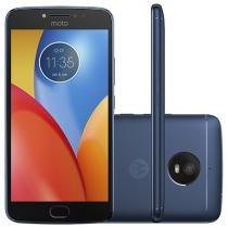 "Smartphone Motorola Moto E4 Plus 16GB Azul Safira - Dual Chip 4G Câm. 13MP + Selfie 5MP Tela 5.5"" HD"