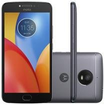 "Smartphone Motorola Moto E4 Plus 16GB Titanium - Dual Chip 4G Câm. 13MP + Selfie 5MP Tela 5.5"" HD"