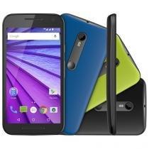 Smartphone Motorola Moto G 3ª Geração Colors HDTV - Preto 16GB Dual Chip 4G Câm. 13MP + Selfie 5MP