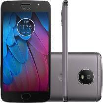 Smartphone Motorola Moto G 5S Dual Chip Android 7.1.1 Nougat Tela 5.2 Snapdragon 430 32GB 4G Câmera 16MP - Platinum -