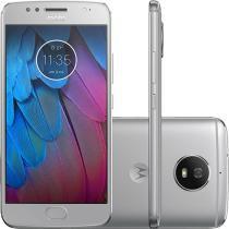 Smartphone Motorola Moto G 5S Dual Chip Android 7.1.1 Nougat Tela 5.2 Snapdragon 430 32GB 4G Câmera 16MP -  Prata -