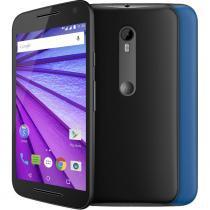 "Smartphone Motorola Moto G Music 3 Desbloqueado 5"" 16GB 4G Dual Chip Android 5.1 Preto + Capa Azul - Preto - Motorola"
