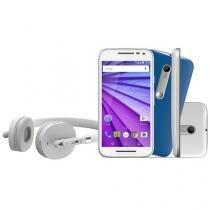 """Smartphone Motorola Moto G Music 3ª Geração 16GB - Dual Chip Câm. 13MP + Selfie 5MP Tela 5"""" Quad Core"""
