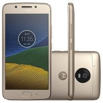 "Smartphone Motorola Moto G5 32GB Ouro Dual Chip - 4G Câm. 13MP + Selfie 5MP Tela 5"" Full HD"