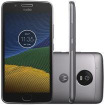 "Smartphone Motorola Moto G5 32GB Platinum - Dual Chip 4G Câm. 13MP + Selfie 5MP Tela 5"""