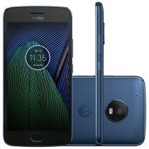 "Smartphone Motorola Moto G5 Plus 32GB Azul Safira - Dual Chip Câm. 12MP + Selfie 5MP Tela 5.2"" Full HD"