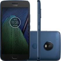 Smartphone Motorola Moto G5 Plus XT1683 Azul Safira Dual Chip Android Nougat 4G Wi-Fi TV Digital HD -
