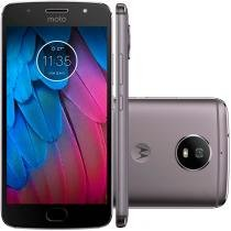 "Smartphone Motorola Moto G5 S XT1792 Octa-Core Android 7.1, Tela 5.2"", 32GB, 16MP, 4G, Dual Chip Desbloqueado - Platinum -"