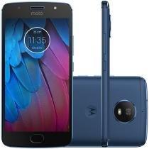"Smartphone Motorola Moto G5s 32GB Azul Safira - Dual Chip 4G Câm. 16MP + Selfie 5MP Tela 5,2"""
