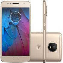 "Smartphone Motorola Moto G5s 32GB Ouro - Dual Chip 4G Câm. 16MP + Selfie 5MP Tela 5,2"""