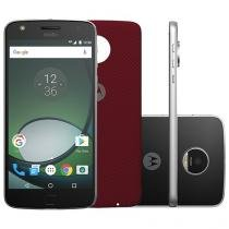 Smartphone Motorola Moto Z Play 32GB Preto e Prata - Dual Chip 4G Câm 16MP + Selfie 5MP Flash Tela 5.5""
