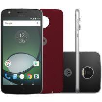 "Smartphone Motorola Moto Z Play 32GB Preto e Prata - Dual Chip 4G Câm 16MP + Selfie 5MP Flash Tela 5.5"""