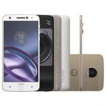 Smartphone Motorola Moto Z Power & Hasselblad True - Zoom Edition 64GB Branco e Dourado DualChip 4G