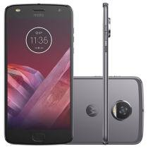 Smartphone Motorola Moto Z2 Play 64GB Platinum - Dual Chip 4G Câm. 12MP + Selfie 5MP Tela 5.5""