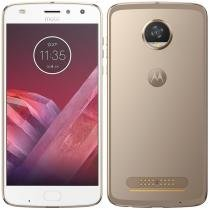 "Smartphone Motorola Moto Z2 Play, Dual Chip, Ouro, Tela 5,5"", 4G+WiFi+NFC, Android 7.1.1 Nougat, 12MP, 64GB -"