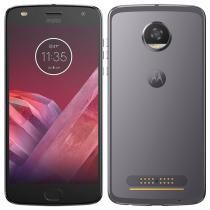 "Smartphone Motorola Moto Z2 Play, Dual Chip, Platinum, Tela 5,5"", 4G+WiFi+NFC, Android 7.1.1, 12MP, 64GB -"