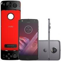Smartphone Motorola Moto Z2 Play Gamepad Edition - 64GB Platinum Dual Chip 4G Câm. 12MP + Selfie 5MP