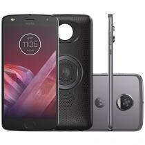 Smartphone Motorola Moto Z2 Play + Moto Stereo - Speaker 64GB Platinum Dual Chip 4G Câm. 12MP